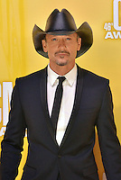 NASHVILLE, TN - NOVEMBER 1: Tim McGraw arrives on the Macy's Red Carpet at the 46th Annual CMA Awards at the Bridgestone Arena in Nashville, TN on Nov. 1, 2012. © mpi99/MediaPunch Inc. /NortePhoto