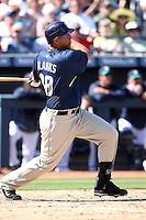 Kyle Blanks. San Diego Padres spring training game vs. Seattle Mariners at Peoria Stadium, Peoria, AZ - 03/04/2010.Photo by:  Bill Mitchell/Four Seam Images.