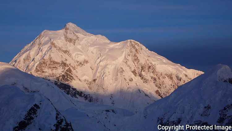 Mount Hunter from the Kahiltna Glacier, Alaska Range