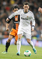 Real Madrid's Mesut Özil during King's Cup match. January 15, 2013. (ALTERPHOTOS/Alvaro Hernandez) /NortePhoto