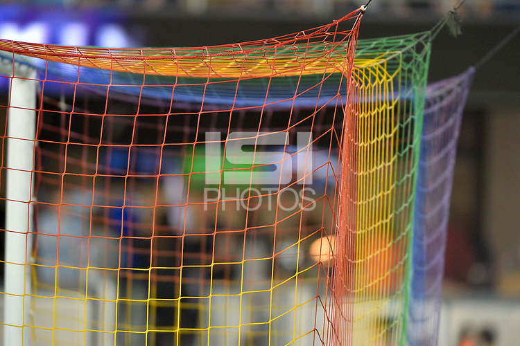 San Jose, CA - Saturday August 19, 2017: Pride night net during a Major League Soccer (MLS) match between the San Jose Earthquakes and the Philadelphia Union at Avaya Stadium.