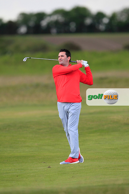 Gary O'Flaherty (Cork)  on the 2nd fairway during Round 3 of the East of Ireland Amateur Open Championship at Co. Louth Golf Club in Baltray on Sunday 4th June 2017.<br /> Photo: Golffile / Thos Caffrey.<br /> <br /> All photo usage must carry mandatory copyright credit     (&copy; Golffile | Thos Caffrey)