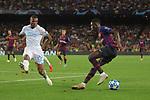 UEFA Champions League 2018/2019 - Matchday 1.<br /> FC Barcelona vs PSV Eindhoven: 4-0.<br /> Denzel Dumfries vs Ousmane Dembele.