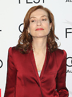 "Hollywood, CA - NOVEMBER 13: Isabelle Huppert, At AFI FEST 2016 Presented By Audi - A Tribute To Isabelle Huppert And Gala Screening Of ""Elle"" At The Egyptian Theatre, California on November 13, 2016. Credit: Faye Sadou/MediaPunch"