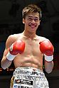 Boxing bout at Korakuen Hall in Tokyo