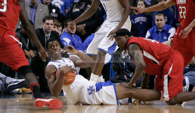 Terrence Jones struggles for the ball with a Lamar University player at Rupp Arena, on Wednesday, Dec. 28, 2011. Photo by Taylor Moak | Staff ..