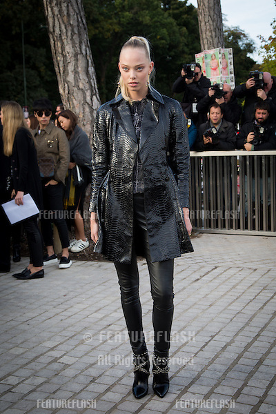 Tanya Dziahileva attend Louis Vuitton Show Front Row - Paris Fashion Week  2016.<br /> October 7, 2015 Paris, France<br /> Picture: Kristina Afanasyeva / Featureflash