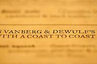 V&D Coast 2 Coast Toast - November 15, 2011