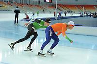 SPEEDSKATING: SOCHI: Adler Arena, 19-03-2013, Training, Sven Kramer (NED), Koen Verweij (NED), © Martin de Jong