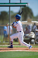 David Coleman during the WWBA World Championship at the Roger Dean Complex on October 18, 2018 in Jupiter, Florida.  David Coleman is an outfielder from Mississauga, Ontario who attends Lorne Park Secondary School.  (Mike Janes/Four Seam Images)