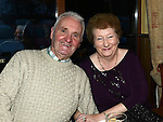 Pat and Kathleen Birch pictured at Collon senior citizens christmas party at Watters lounge. Photo:Colin Bell/pressphotos.ie