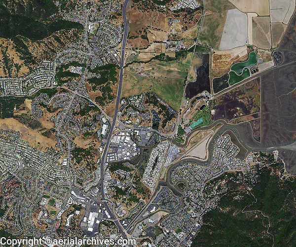 Aerial Photo Map Of San Rafael California Aerial Archives San