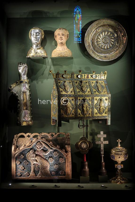 France, Indre (36), Saint-Marcel, le trésor de l'église Saint-Marcel, // France, Indre, Saint Marcel, the church, the treasure