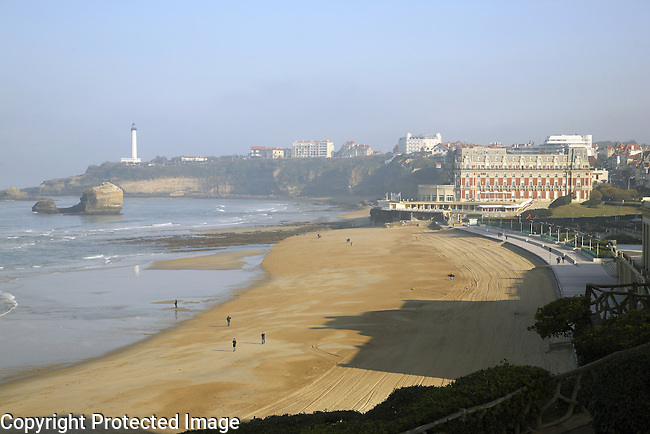 Le Grand Plage Beach, Biarritz, Aquitaine, Pyrenees Atlantiques, France