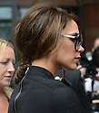 Posh Spice Victoria Beckham leaves Viva Forever photocell at St Pancras Hotel in London today. 26.6.12.....Pic by Gavin Rodgers/Pixel 8000 Ltd