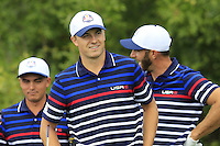 Jordan Spieth US Team on the 10th tee during Thursday's Practice Day of the 41st RyderCup held at Hazeltine National Golf Club, Chaska, Minnesota, USA. 29th September 2016.<br /> Picture: Eoin Clarke | Golffile<br /> <br /> <br /> All photos usage must carry mandatory copyright credit (&copy; Golffile | Eoin Clarke)
