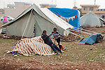 ARBAT, IRAQ: Syrian boys play in the Arbat refugee camp...45 families who have fled the violence in Syria are currently living in the Arbat refugee camp 19km outside the Iraqi city of Sulaimaniyah...Photo by Zmnako Ismael/Metrography