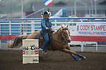 Tammy Fischer during the Cody Stampede event in Cody, WY - 7.3.2019 Photo by Christopher Thompson