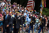 From L to R, United States President Barack Obama and Major General Jeffrey Buchanan arrive for a wreath laying ceremony at the Tomb of the Unknown Soldier at Arlington National Cemetery, May 26, 2014 in Arlington, Virginia. President Obama returned to Washington Monday morning after a surprise visit to Afghanistan to visit U.S. troops at Bagram Air Field. <br /> Credit: Drew Angerer / Pool via CNP