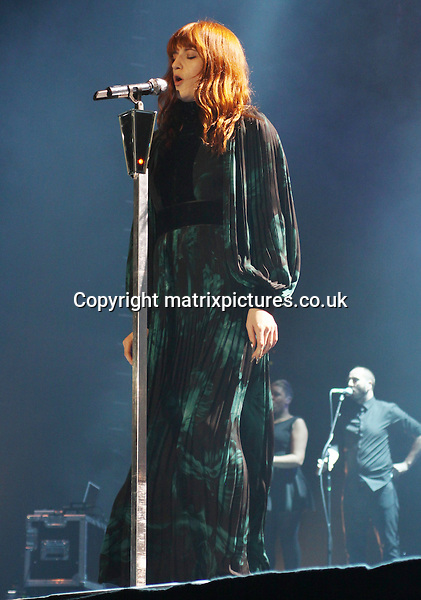 NON-EXCLUSIVE PICTURE: MATRIXPICTURES.CO.UK.PLEASE CREDIT ALL USES..WORLD RIGHTS..Singer-songwriter Florence Welch of English indie pop group Florence And The Machine, is pictured in concert at the Liverpool Echo Arena...DECEMBER 10th 2012..REF: IRF 125865