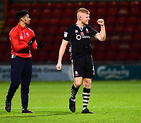 Lincoln City's Elliott Whitehouse and Josh Ginnelly applaud the fans at the final whistle<br /> <br /> Photographer Andrew Vaughan/CameraSport<br /> <br /> The EFL Sky Bet League Two - Crewe Alexandra v Lincoln City - Saturday 11th November 2017 - Alexandra Stadium - Crewe<br /> <br /> World Copyright &copy; 2017 CameraSport. All rights reserved. 43 Linden Ave. Countesthorpe. Leicester. England. LE8 5PG - Tel: +44 (0) 116 277 4147 - admin@camerasport.com - www.camerasport.com