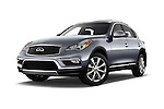 Stock pictures of low aggressive front three quarter view of 2017 Infiniti QX50 - 5 Door Suv Low Aggressive