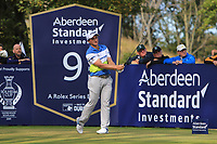 Paul Dunne (IRL) on the 9th during Round 2 of the Aberdeen Standard Investments Scottish Open 2019 at The Renaissance Club, North Berwick, Scotland on Friday 12th July 2019.<br /> Picture:  Thos Caffrey / Golffile<br /> <br /> All photos usage must carry mandatory copyright credit (© Golffile | Thos Caffrey)