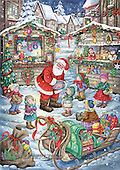 Interlitho, CHRISTMAS SANTA, SNOWMAN, paintings+++++,santa,x-mas market,KL5993,#x# Weihnachten, nostalgisch, Navidad, nostálgico, illustrations, pinturas