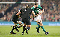 19th November 2016 | IRELAND vs NEW ZEALAND<br /> <br /> Donnacha Ryan is tackled by Brodie Retallick and Joe Moody during the Autumn Series International clash between Ireland and New Zealand at the Aviva Stadium, Lansdowne Road, Dublin,  Ireland. Photo by John Dickson/DICKSONDIGITAL