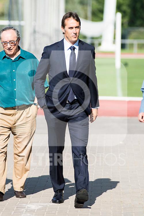 Basque coach Julen Lopetegui is presented as new coach of the Spanish Team at Ciudad del Futbol in Las Rozas, Madrid. Spain. 21 July. 2016. (ALTERPHOTOS/Borja B.Hojas)