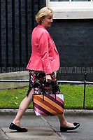 Andrea Leadsom MP (Lord President of the Council, Leader of the House of Commons).<br /> <br /> London, 12/06/2017. Today, Theresa May's reshuffled Cabinet met at 10 Downing Street after the General Election of the 8 June 2017. Philip Hammond MP - not present in the photos - was confirmed as Chancellor of the Exchequer. <br /> After 5 years of the Coalition Government (Conservatives &amp; Liberal Democrats) led by the Conservative Party leader David Cameron, and one year of David Cameron's Government (Who resigned after the Brexit victory at the EU Referendum held in 2016), British people voted in the following way: the Conservative Party gained 318 seats (42.4% - 13,667,213 votes &ndash; 12 seats less than 2015), Labour Party 262 seats (40,0% - 12,874,985 votes &ndash; 30 seats more then 2015); Scottish National Party, SNP 35 seats (3,0% - 977,569 votes &ndash; 21 seats less than 2015); Liberal Democrats 12 seats (7,4% - 2,371,772 votes &ndash; 4 seats more than 2015); Democratic Unionist Party 10 seats (0,9% - 292,316 votes &ndash; 2 seats more than 2015); Sinn Fein 7 seats (0,8% - 238,915 votes &ndash; 3 seats more than 2015); Plaid Cymru 4 seats (0,5% - 164,466 votes &ndash; 1 seat more than 2015); Green Party 1 seat (1,6% - 525,371votes &ndash; Same seat of 2015); UKIP 0 seat (1.8% - 593,852 votes); others 1 seat. <br /> The definitive turn out of the election was 68.7%, 2% higher than the 2015.<br /> <br /> For more info about the election result click here: http://bbc.in/2qVyNRd &amp; http://bit.ly/2s9ob51<br /> <br /> For more info about the Cabinet Ministers click here: https://goo.gl/wmRYRd