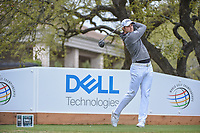 Peter Uihlein (USA) watches his tee shot on 1 during day 3 of the World Golf Championships, Dell Match Play, Austin Country Club, Austin, Texas. 3/23/2018.<br /> Picture: Golffile | Ken Murray<br /> <br /> <br /> All photo usage must carry mandatory copyright credit (&copy; Golffile | Ken Murray)