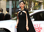 """November 24, 2017, Tokyo, Japan - Japanese actress Tae Kimura poses for photo on the red carpet as she receives the trophy of """"Vogue Japan Women of the Year 2017"""" award in Tokyo on Friday, November 24, 2017.      (Photo by Yoshio Tsunoda/AFLO) LWX -ytd-"""