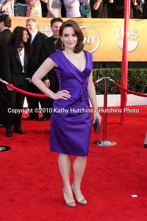 Tina Fey.arriving at the 2010 Screen Actor's Guild Awards.Shrine Auditorium.Los Angeles, CA.January 23, 2010.©2010 Kathy Hutchins / Hutchins Photo....
