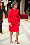 Queen Sofia attends to the National Sports Awards 2015 at El Pardo Palace in Madrid, Spain. January 23, 2017. (ALTERPHOTOS/BorjaB.Hojas)