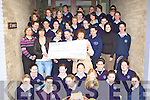 St Joesphs Presentation Secondary school Castleisland LCVP class who presented a cheque for EUR500 to St Vincent de Paul in the school on Tuesday the girls raised the money by running a sports day ant table quiz