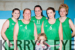 The St Brendans team that played in the KCYMS invitational tournament on Saturday l-r: Maura Leen, Elaine Bailey, Jillian Kerins, Liz McMahon and Erika Roche