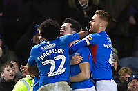 John Marquis of Portsmouth middle celebrates scoring the second goal during Portsmouth vs AFC Wimbledon, Sky Bet EFL League 1 Football at Fratton Park on 11th January 2020