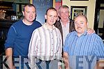 Enjoying the Beaufort Gun Club social in the Inn Between Bar, Beaufort on Saturday night were Michael O'Callaghan, Tom Murphy, Donal McLoughlin and Tom O'Connor.