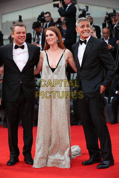 VENICE, ITALY - SEPTEMBER 02: Matt Damon, Julianne Moore , George Clooney - arrivals at the 'Suburbicon' screening during the 74th Venice Film Festival at Sala Grande on September 2, 2017 in Venice, Italy.<br /> CAP/GOL<br /> &copy;GOL/Capital Pictures