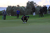Francesco Laporta (ITA) on the 18th green during Round 4 of the Challenge Tour Grand Final 2019 at Club de Golf Alcanada, Port d'Alcúdia, Mallorca, Spain on Sunday 10th November 2019.<br /> Picture:  Thos Caffrey / Golffile<br /> <br /> All photo usage must carry mandatory copyright credit (© Golffile | Thos Caffrey)