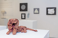 Surface to Structure origami exhibition at Cooper Union, New York. Gallery view. South African Lion designed and folded by Gachepapier 2013