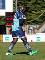 Adebayo Akinfenwa of Wycombe Wanderers during the Sky Bet League 2 match between Wycombe Wanderers and Notts County at Adams Park, High Wycombe, England on the 25th March 2017. Photo by Liam McAvoy.