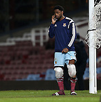 West Ham's Alex Song comes out after the match with ice on both his knees<br /> <br /> Barclays Premier League- West Ham United vs Manchester United  - Upton Park - England - 8th February 2015 - Picture David Klein/Sportimage