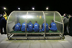 Airbus UK 4 Bangor City 1, 12/01/2007. The Airfield, Welsh Premier League. The home team's substitute bench watch as lowly Airbus UK take on Bangor City in a Welsh Premier League match at The Airfield, Broughton. The Airmen won by 4 goals to 1, having lead by a solitary goal at the break in this North Wales clash. Photo by Colin McPherson.