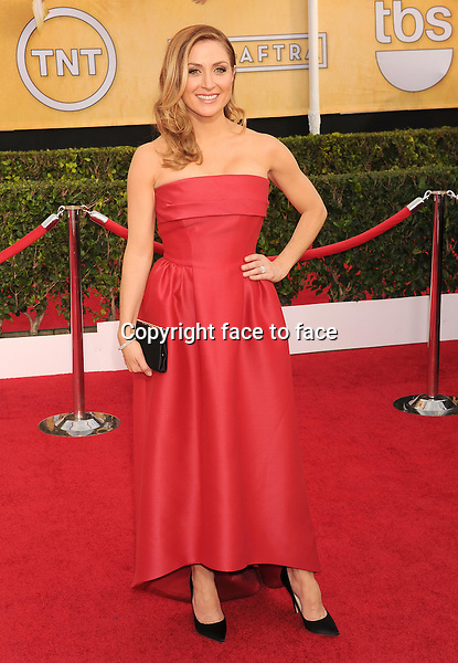 LOS ANGELES, CA- JANUARY 18: Actress Sasha Alexander arrives at the 20th Annual Screen Actors Guild Awards at The Shrine Auditorium on January 18, 2014 in Los Angeles, California.<br />