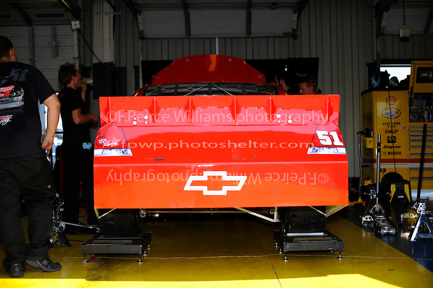 The Phoenix Racing #51 in the garage