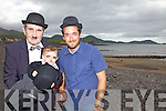Mick O'Dwyer the most mature Chaplin on parade in Waterville on Sunday with Edward Cartwright(9 months old - the youngest) pictured here with Arthur Gardin grandson of the great man Charlie Chaplin.