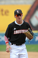 University of Louisville Cardinals infielder Sutton Whiting (1) during a game against the Temple University Owls at Campbell's Field on May 10, 2014 in Camden, New Jersey. Temple defeated Louisville 4-2.  (Tomasso DeRosa/ Four Seam Images)