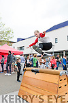 Dave Lucid from Ballymac shows his vaulting skills at K Fest on Saturday
